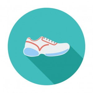 Shoes. Single flat color icon. Vector illustration.
