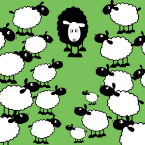 Be different Black sheep of the family